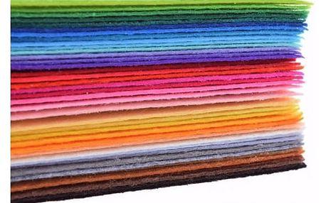 Sada řezaných dekoračních látek - 40 barev