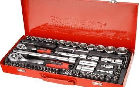 """Hlavice nástrčné Extol Premium (8818370) hlavice nástrčné, sada 65ks, 1/4"""", 1/2"""", CrV"""