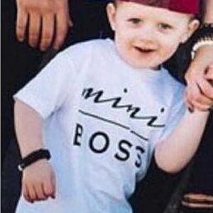 Vtipné tričko pro děti Mini Boss