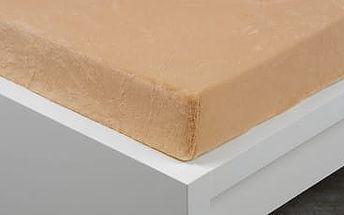 XPOSE ® Prostěradlo mikroflanel Exclusive dvoulůžko - béžová 200x220 cm