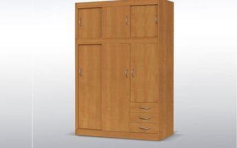 Šatní skříň KARLA - olše