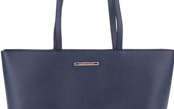 Tmavě modrá koženková kabelka s třásněmi Dorothy Perkins