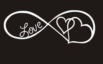 Samolepka na auto - Nekonečná láska - 6 x 16 cm - dodání do 2 dnů