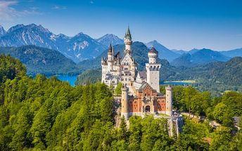 Bavorsko pro 1 osobu na zámky, jezera, soutěsky, mnoho nástupních míst, březen-květen 2017