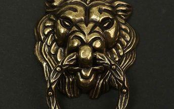 Kovové klepátko na dveře - Lev