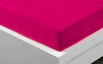 XPOSE ® Prostěradlo mikroflanel Exclusive dvoulůžko - fuchsiová 200x220 cm