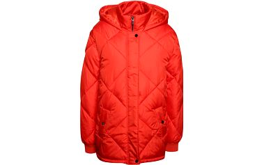 Červená prošívaná bunda s kapucí Dorothy Perkins