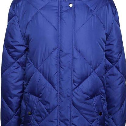 Tmavě modrá prošívaná bunda s kapucí Dorothy Perkins