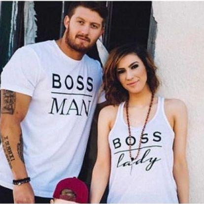 Trička pro báječný pár Boss