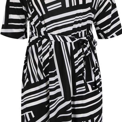 Černo-bílé vzorované šaty Dorothy Perkins Curve