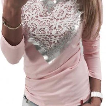 Dámské tričko se srdcem Rose