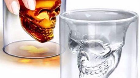 Originální sklenice s lebkou - 4 velikosti