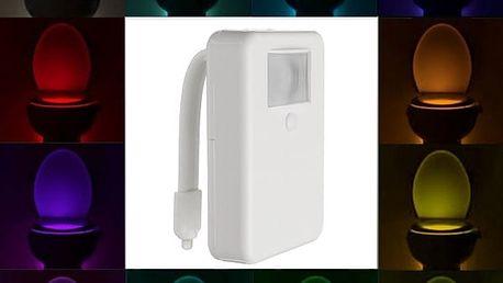 Noční LED světlo na toaletu s pohybovým senzorem