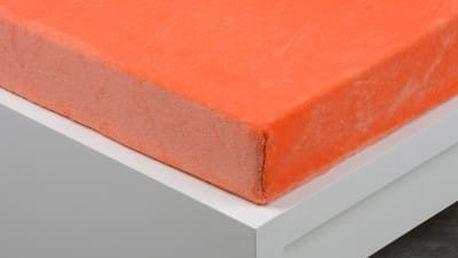 XPOSE ® Prostěradlo mikroflanel Exclusive dvoulůžko - oranžová 180x200 cm