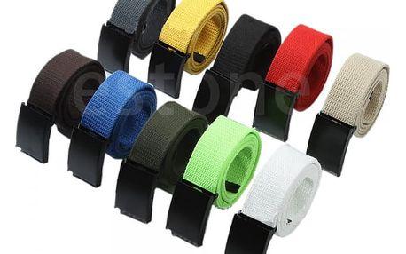 Plátěný pásek pro pány s přezkou - různé barvy