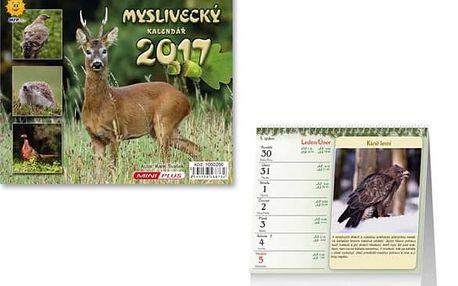Mini kalendář 2017 - Myslivecký - dodání do 2 dnů
