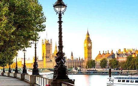5denní zájezd do Londýna s návštěvou Stonehenge a Oxfordu, 2x ubytování se snídaní v ceně.