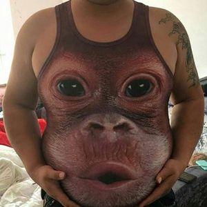 Vtipné tílko se vzorem orangutána - dodání do 2 dnů