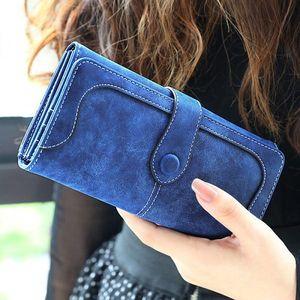 Dlouhá dámská peněženka v retro stylu - 8 barev