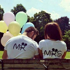 Dámské nebo pánské bílé tričko - MRS. a MR.