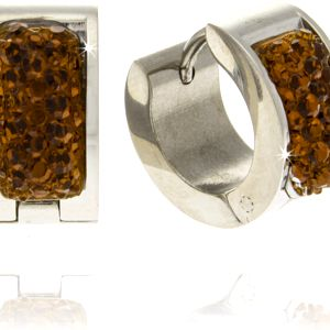 Fashion Icon Náušnice kroužky barevné chirurgická ocel
