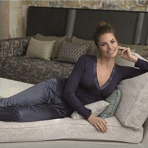 SELMARK Dámské modré pyžamo P03730-P16 L