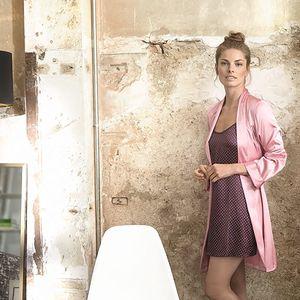 SELMARK Dámský světle růžový župan P02710-P14 M