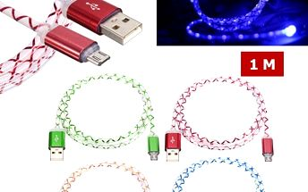 USB kabel s LED diodami - 4 barvy