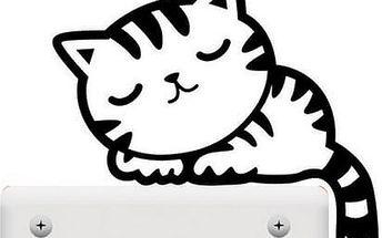 Nalepte.cz Kočka na vypínač 10 x 10 cm
