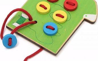 Dřevěná košile s knoflíčky - vzdělávací hračka