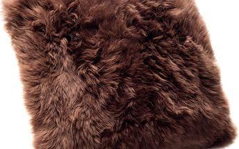 Hnědý polštář Royal Dream Sheepskin, 45x45 cm - doprava zdarma!