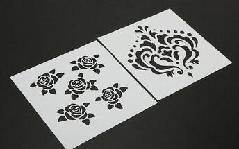 Dekorativní šablona pro domácí tvoření
