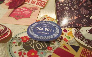 Nalepte.cz Mini Thank You 4,5 x 4,5 cm