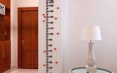 Nalepovací metr na zeď pro měření dětí - 160 cm