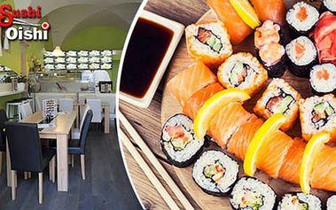 50% sleva na sushi v restauraci Sushi Oishi v centru Prahy