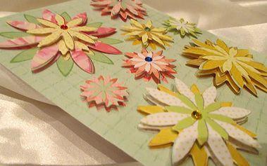 Nalepte.cz 3D mini květy na dárky 12 x 14 cm