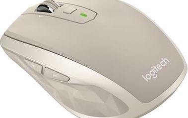 Myš Logitech MX Anywhere 2 Stone (910-004970) / laserová / 6 tlačítek / 1600dpi