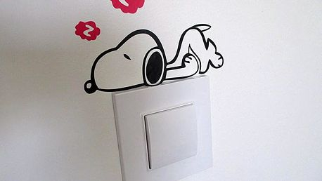 Snoopy na vypínač 15 x 10 cm