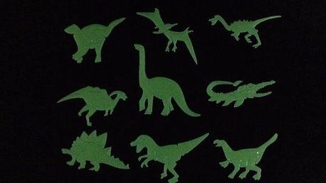 Nalepte.cz Svítící dinosauři 9 x 5 cm