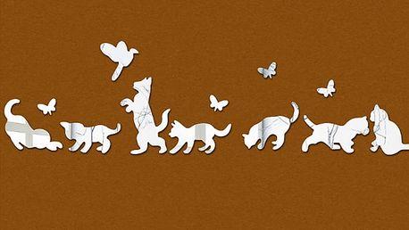 Zrcadlové kočky 12 x 8 cm