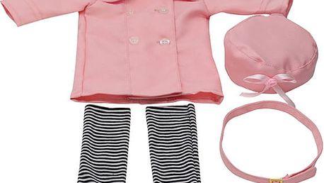 Obleček na panenku - růžový komplet
