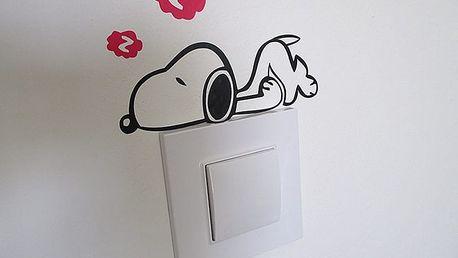 Nalepte.cz Snoopy na vypínač 15 x 10 cm