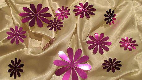Nalepte.cz 3D květy metalická fialová 9,5 x 9,5 cm