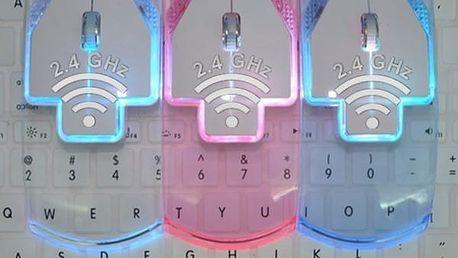Transparentní bezdrátová myš 2,4 GHz