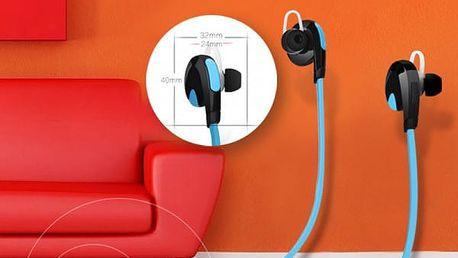Bezdrátová sluchátka s bluetooth připojením - modrá