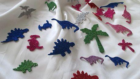 Mini třpytiví dinosauři 4,5 x 7 cm