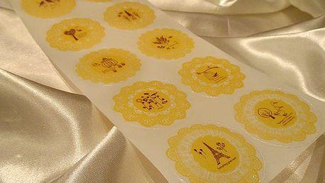 Nalepte.cz Samolepky na dárky žluté 10 x 23 cm