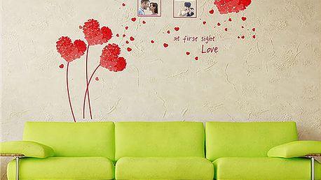 Nalepte.cz Love at first červená 50 x 70 cm