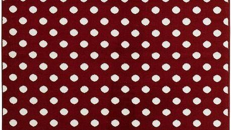 Koberec Fringe - červený, 140x200 cm - doprava zdarma!