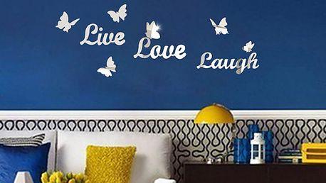 Nalepte.cz Live love laugh 50 x 50 cm